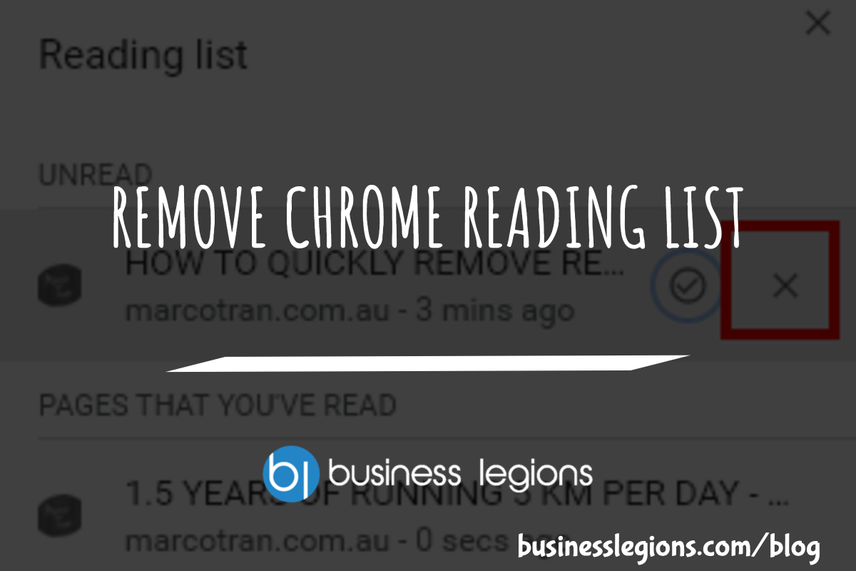 REMOVE CHROME READING LIST