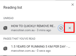 Business Legions Remove Chrome Reading List menu read delete