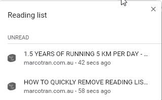 Business Legions Remove Chrome Reading List menu