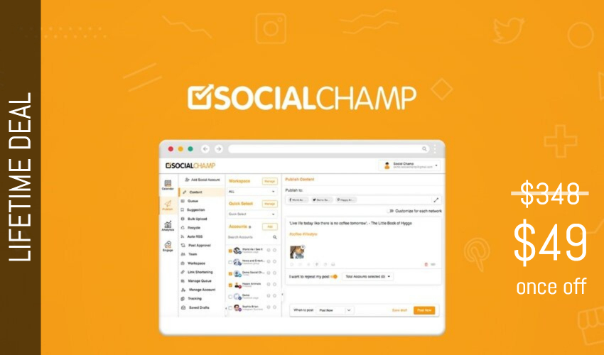 Social Champ Lifetime Deal for $49