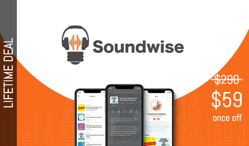 Soundwise Lifetime Deal for $59