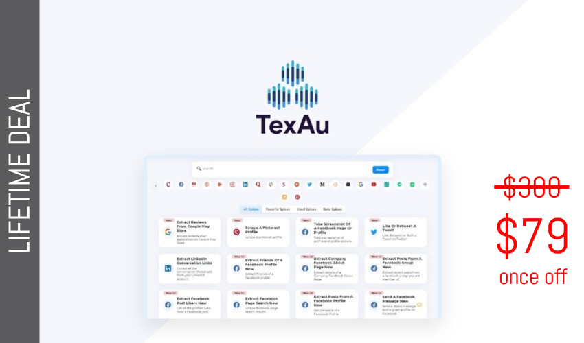 TexAu Lifetime Deal for $79