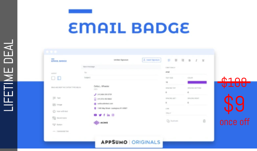 EmailBadge Lifetime Deal for $9