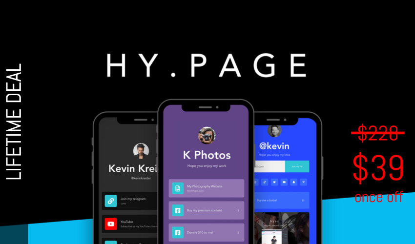 Hy.page Lifetime Deal for $39
