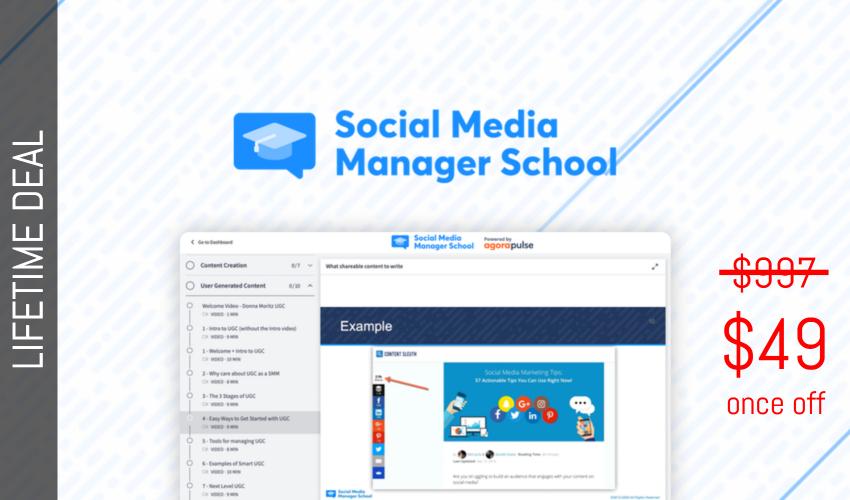 Social Media Manager School Lifetime Deal for $49