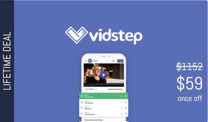 Vidstep Lifetime Deal for $59