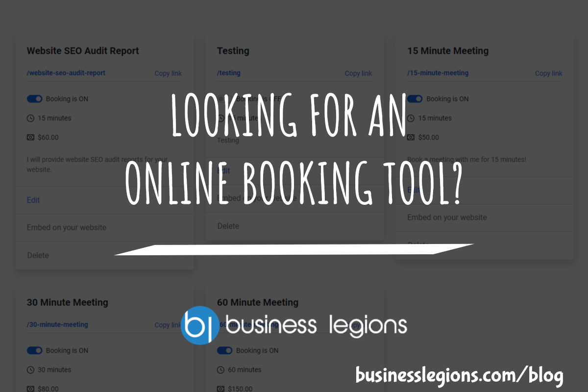 LOOKING FOR AN ONLINE BOOKING TOOL?