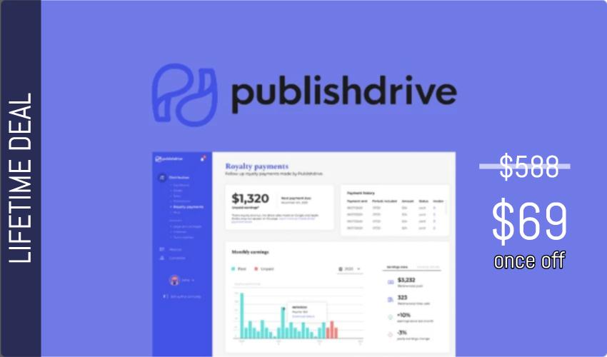 Publishdrive Lifetime Deal for $69