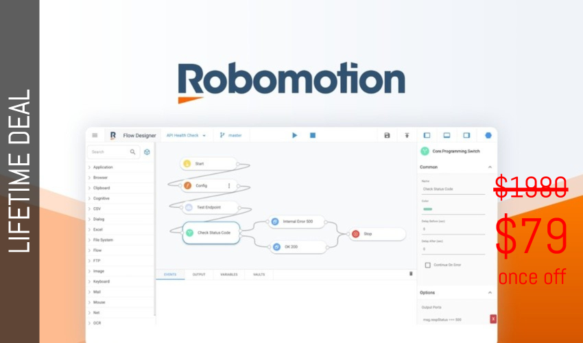Robomotion RPA Lifetime Deal for $79