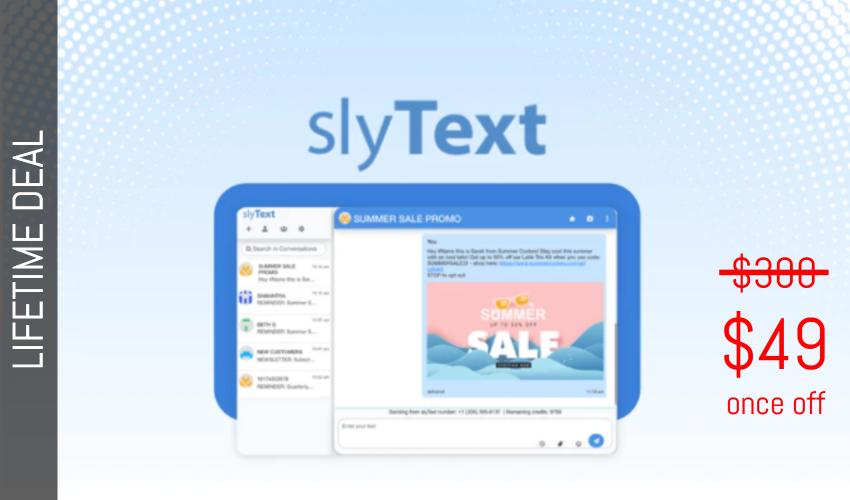 SlyText Lifetime Deal for $49