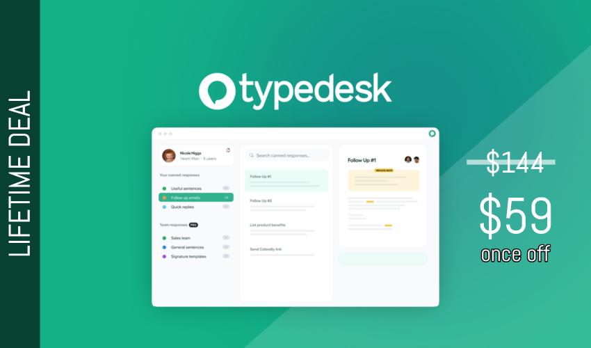 Typedesk Lifetime Deal $59
